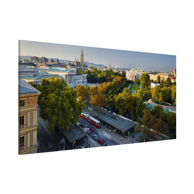 Magnettafel - Blick über Wien - Memoboard Panorama Quer