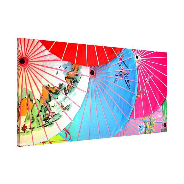Magnettafel - Chinese Parasols - Memoboard Panorama Quer
