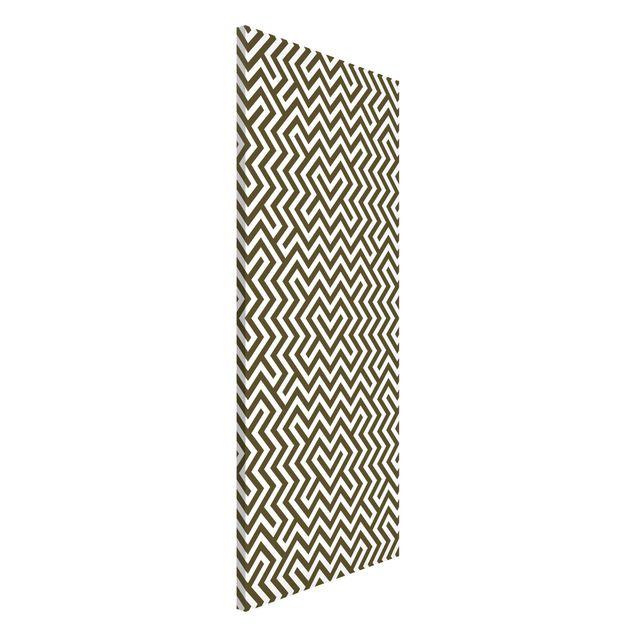 Magnettafel - Geometrisches Design Braun - Memoboard Panorama Hoch