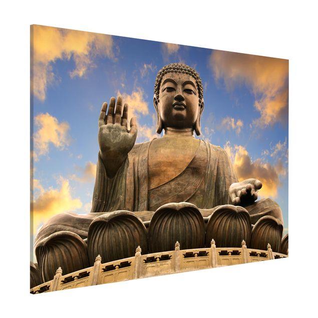 Magnettafel - Großer Buddha - Memoboard Quer