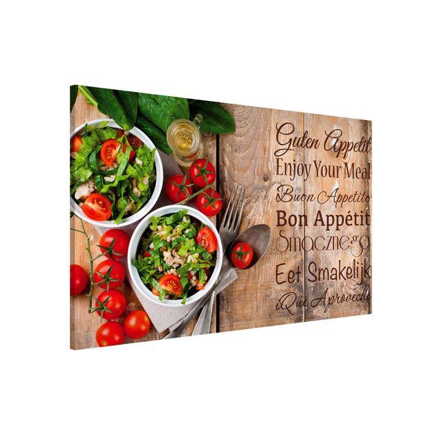 Magnettafel - Guten Appetit - Memoboard Querformat