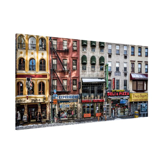 Magnettafel - Kalter Tag in NY - Memoboard Panorama Quer