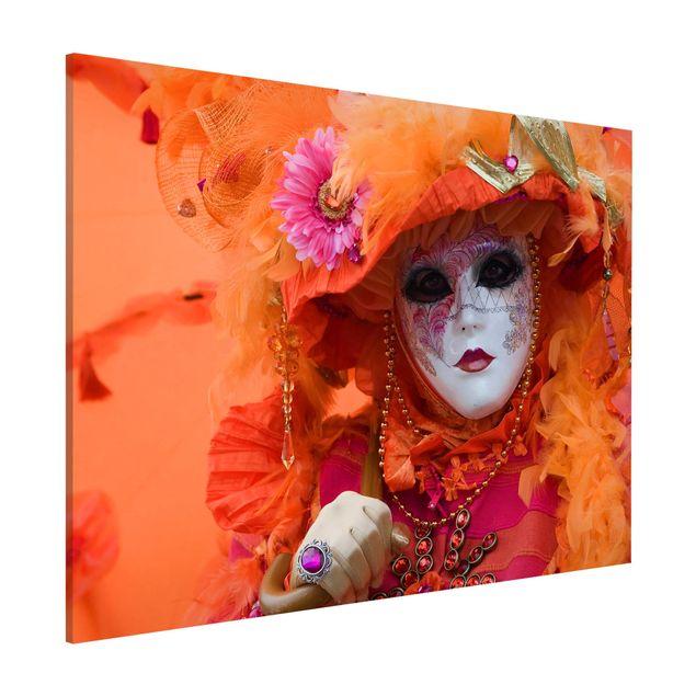 Magnettafel - Karneval in Orange - Memoboard Quer
