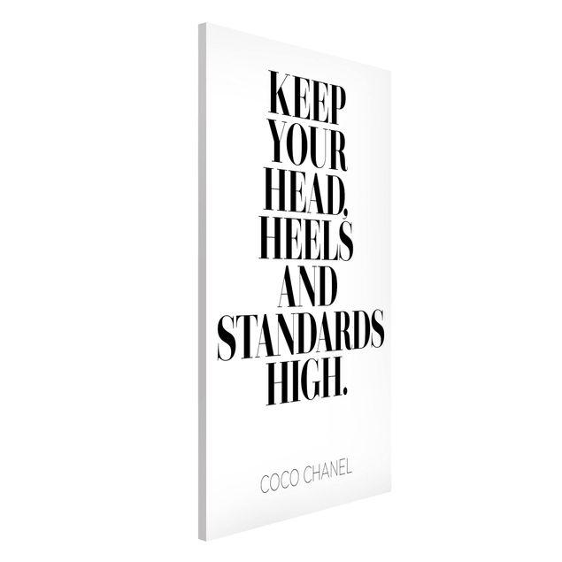 Magnettafel - Keep your head high - Memoboard Hochformat