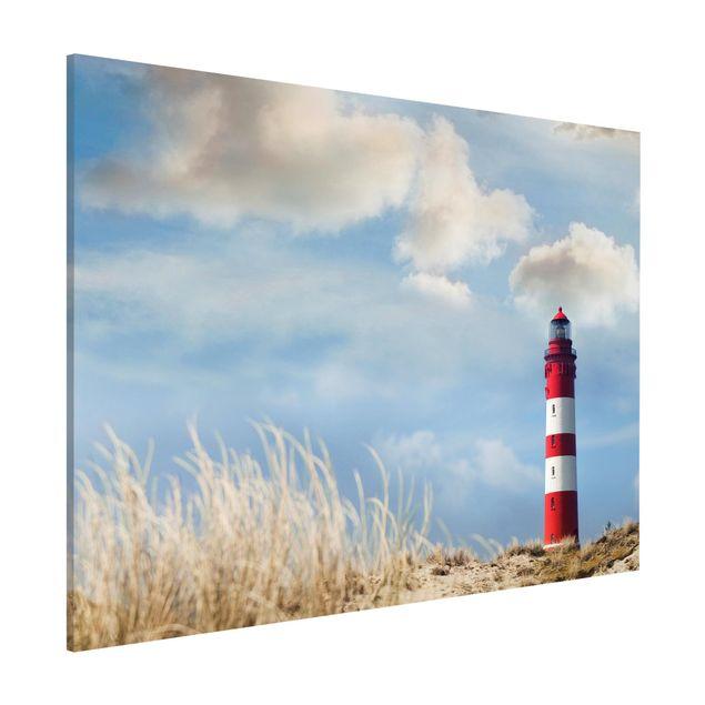 Magnettafel - Leuchtturm in den Dünen - Memoboard Quer