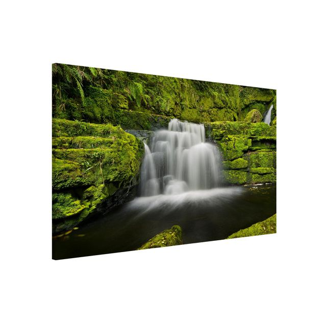 Magnettafel - Lower McLean Falls in Neuseeland - Memoboard Querformat