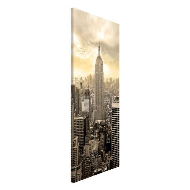 Magnettafel - Manhattan Dawn - Memoboard Panorama Hoch