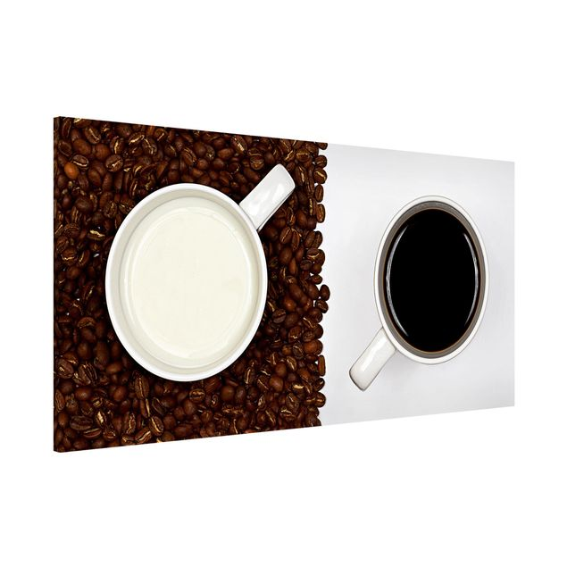 Magnettafel - Milchkaffee - Memoboard Panorama Quer