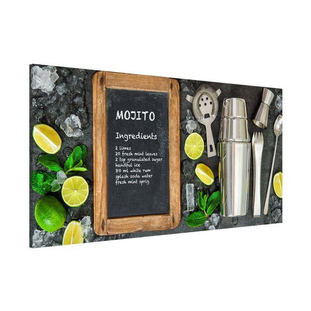 Magnettafel - Mojito Rezept - Memoboard Panorama Querformat