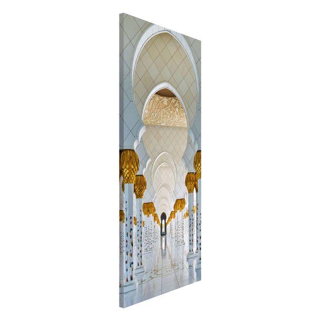 Magnettafel - Moschee in Abu Dhabi - Memoboard Panorama Hoch