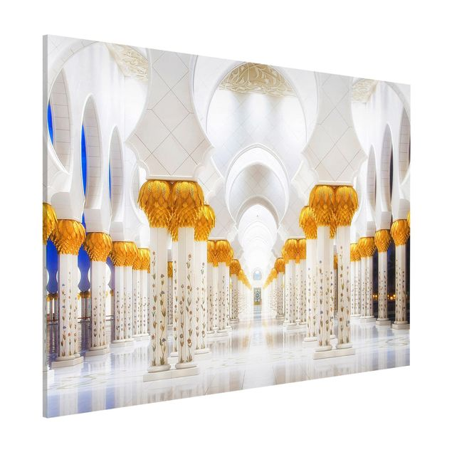 Magnettafel - Moschee in Gold - Memoboard Quer