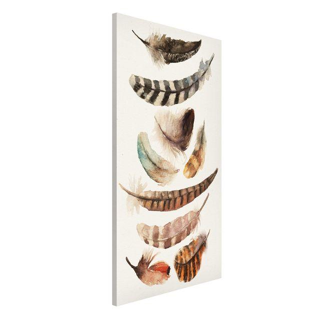 Magnettafel - Neun Federn - Memoboard Hochformat
