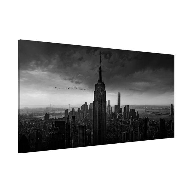 Magnettafel - New York Rockefeller View - Memoboard Panorama Quer