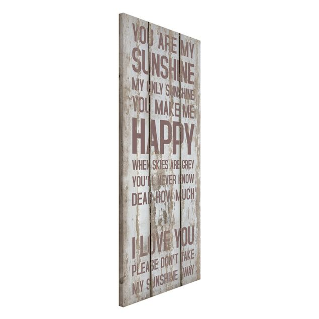Magnettafel - No.RS182 Sunshine - Memoboard Panorama Hoch