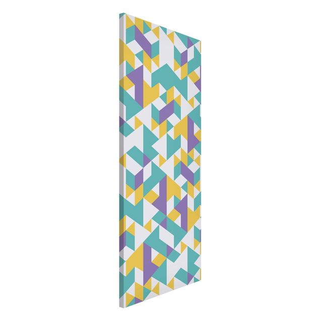 Magnettafel - No.RY33 Lilac Triangles - Memoboard Panorama Hoch