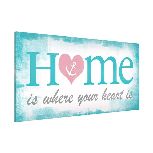 Magnettafel - No.YK33 Home Is Where your Heart is - Memoboard Panorama Quer