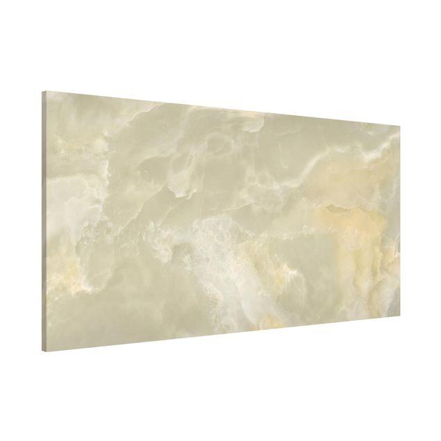 Magnettafel - Onyx Marmor Creme - Memoboard Panorama Quer