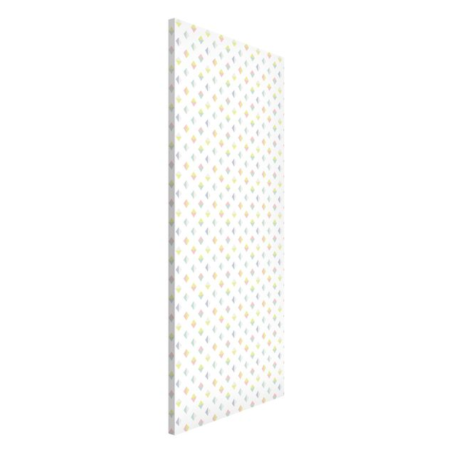 Magnettafel - Pastell Dreiecke - Memoboard Panorama Hoch