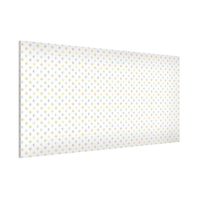 Magnettafel - Pastell Dreiecke - Memoboard Panorama Quer