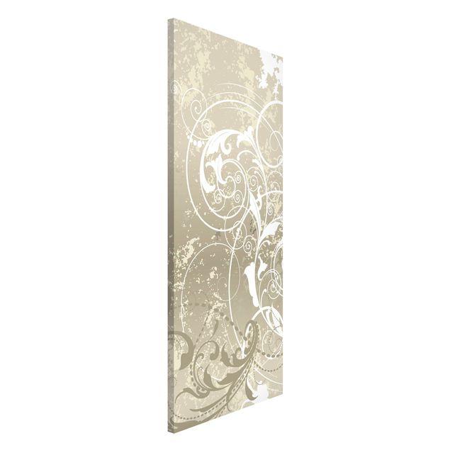 Magnettafel - Perlmutt Ornament Design - Memoboard Panorama Hoch