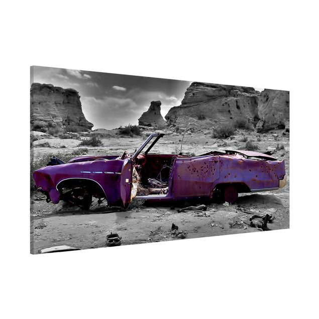 Magnettafel - Pink Cadillac - Memoboard Panorama Quer