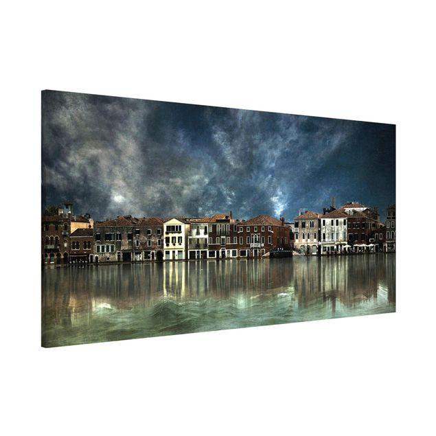 Magnettafel - Reflexionen in Venedig - Memoboard Panorama Quer