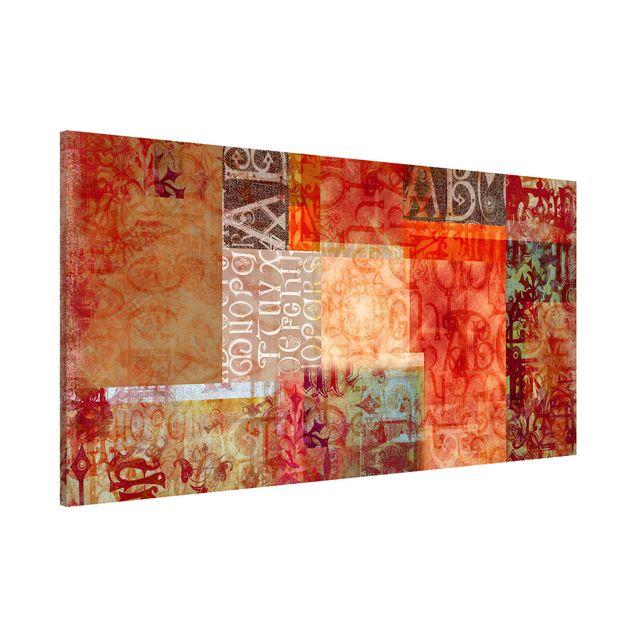 Magnettafel - Schriftmuster - Memoboard Panorama Quer