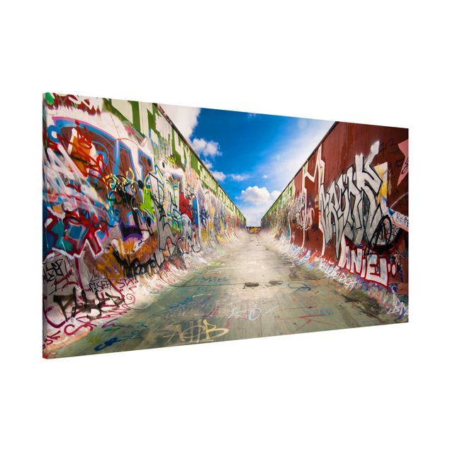 Magnettafel - Skate Graffiti - Memoboard Panorama Quer