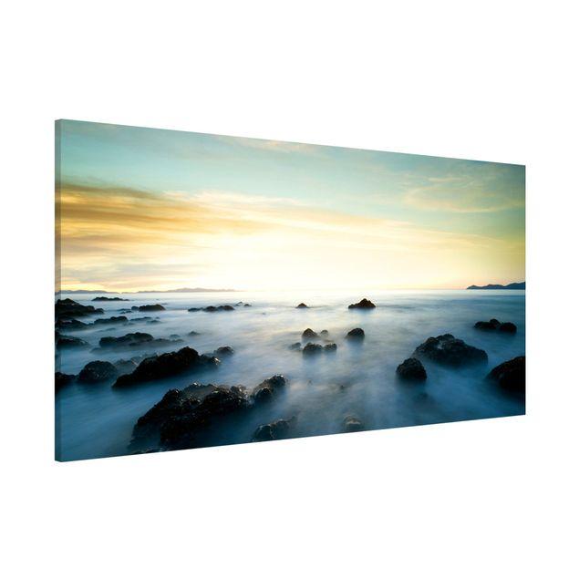 Magnettafel - Sonnenuntergang über dem Ozean - Memoboard Panorama Quer