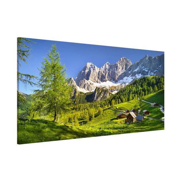 Magnettafel - Steiermark Almwiese - Memoboard Panorama Querformat