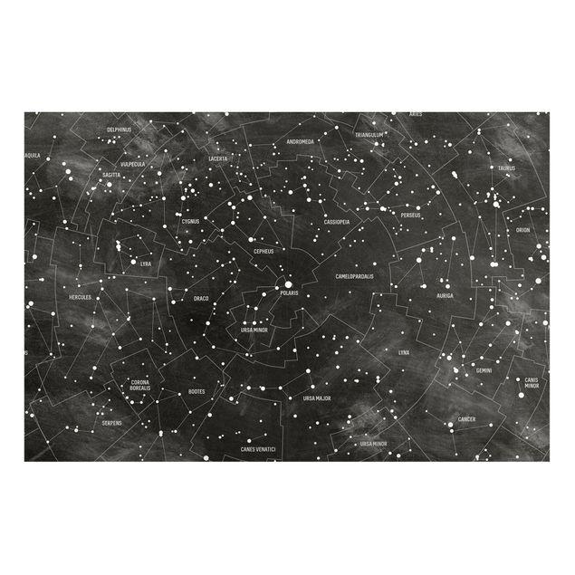 Magnettafel - Sternbild Karte Tafeloptik - Memoboard Panorama Querformat