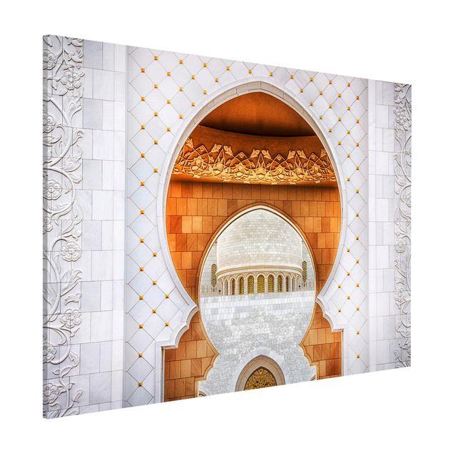 Magnettafel - Tor der Moschee - Memoboard Querformat
