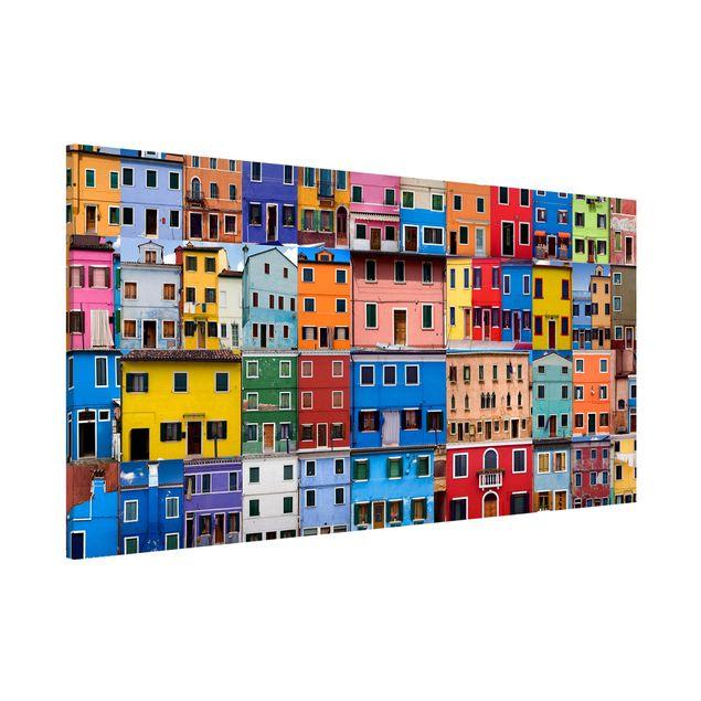 Magnettafel - Venezianische Häuser - Memoboard Panorama Quer