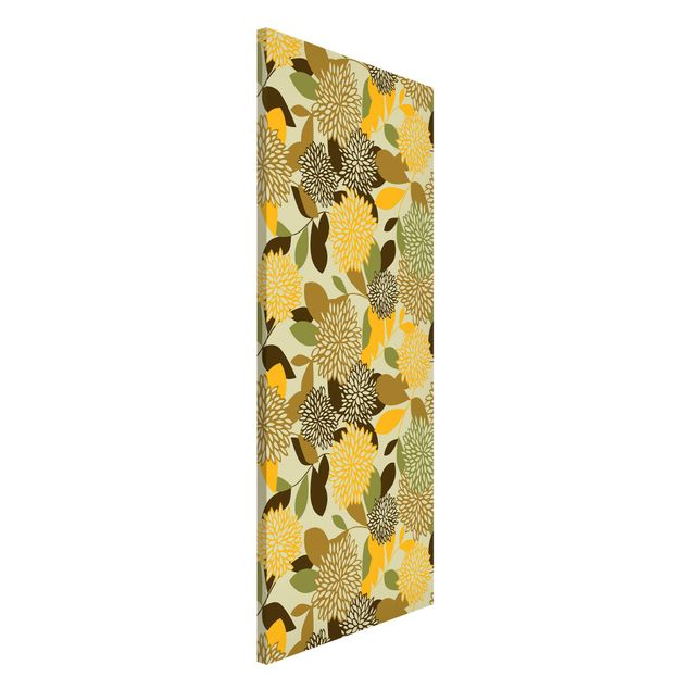 Magnettafel - Vintage Flowers - Memoboard Panorama Hoch