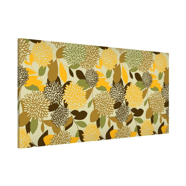 Magnettafel - Vintage Flowers - Memoboard Panorama Quer
