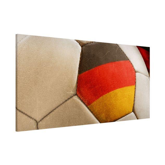 Magnettafel - Vintage Fußball Deutschland - Memoboard Panorama Quer
