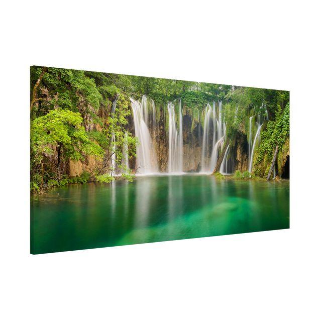 Magnettafel - Wasserfall Plitvicer Seen - Memoboard Panorama Hochformat