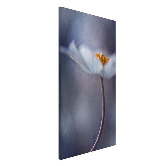 Magnettafel - Weiße Anemonenblüte - Memoboard Hoch