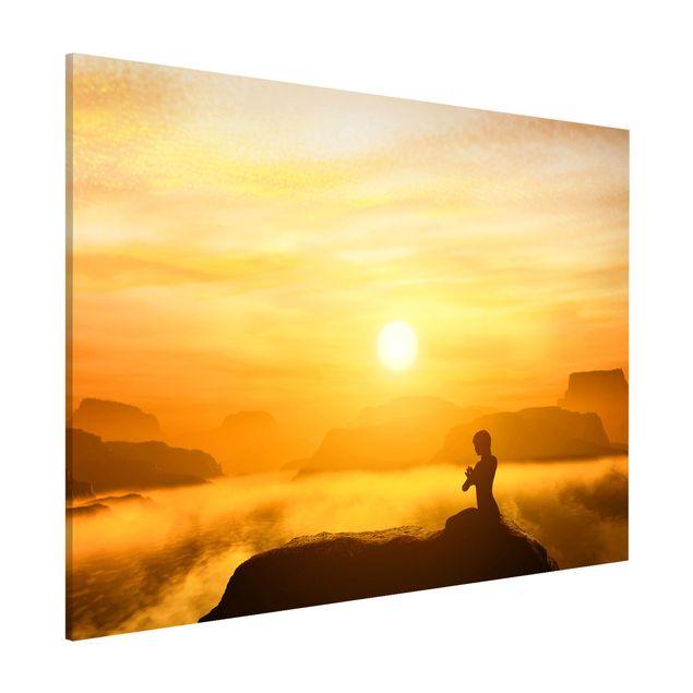 Magnettafel - Yoga Meditation - Memoboard Quer