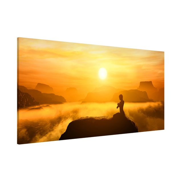 Magnettafel - Yoga Meditation - Memoboard Panorama Quer