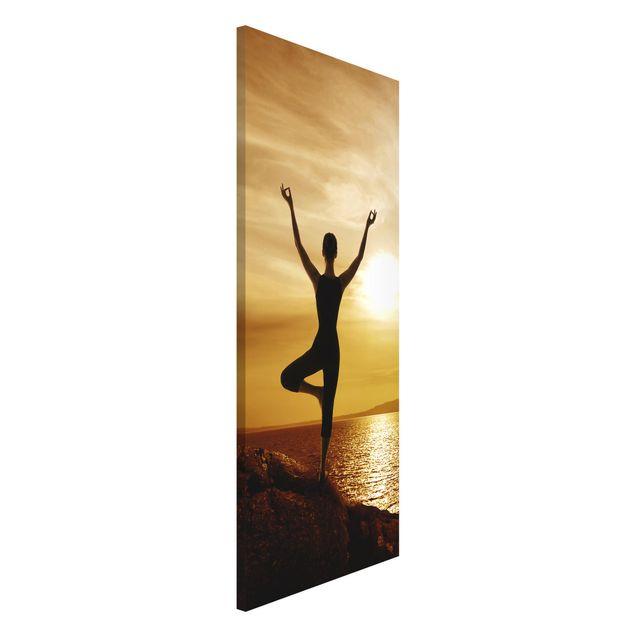 Magnettafel - Yoga - Memoboard Panorama Hoch