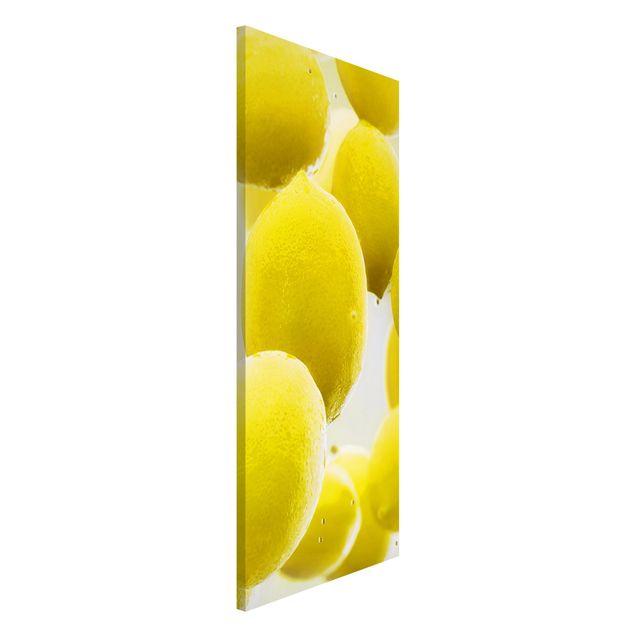 Magnettafel - Zitronen im Wasser - Memoboard Panorama Hoch