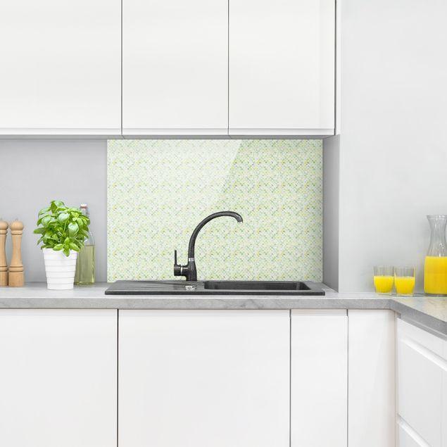 Spritzschutz Glas - Marmor Muster Frühlingsgrün - Querformat 3:2