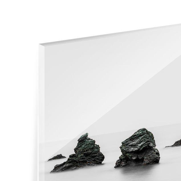 Spritzschutz Glas - Meoto Iwa - die verheirateten Felsen - Querformat 3:2