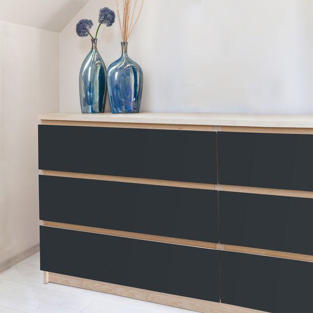 Möbelfolie Anthrazit einfarbig - Mondgrau - Klebefolie für Möbel dunkelgrau
