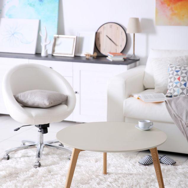 Möbelfolie sand einfarbig - Meersand - Möbel Klebefolie hellbeige pastell selbstklebend