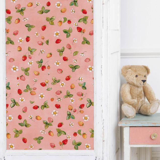 Möbelfolie - Erdbeerinchen Erdbeerfee - Erdbeerblüten