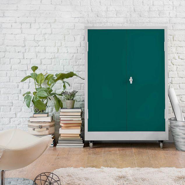 Möbelfolie grün-blau einfarbig - Klebefolie für Möbel Piniengrün selbstklebend