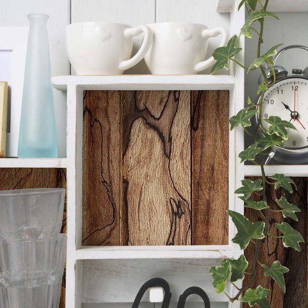 Möbelfolie Holz - Holzwand Flamed - Holzdekorfolie