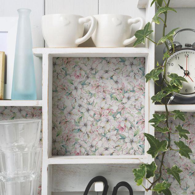 Möbelfolie - Kirschblüten Aquarell